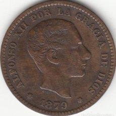 Monedas de España: ALFONSO XII: 5 CENTIMOS 1879 BARCELONA OM. Lote 259924925