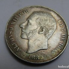 Monete da Spagna: 5 PESETAS DE PLATA 1882. Lote 260333115