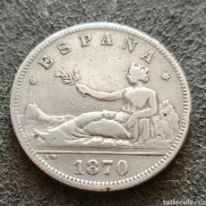 Monete da Spagna: 2 PESETAS DE PLATA DE 1870 *18*75 MBC+. Lote 260572135