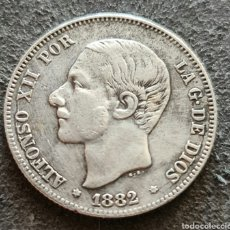 Monete da Spagna: ESCASA MONEDA DE 2 PESETAS DE PALTQ DE 1882 *18*82 MBC. Lote 260574745