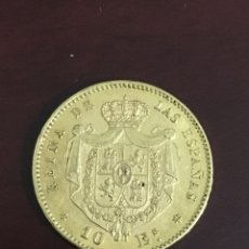 Monedas de España: 10 ESCUDOS DE ORO DE ISABEL II 1868*68. Lote 260784415