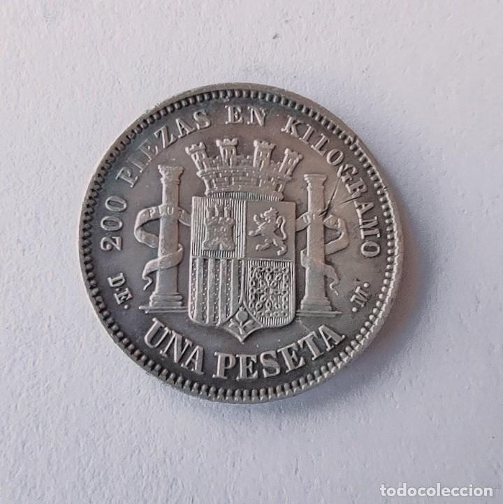 Monedas de España: 1 Peseta. Año 1870 *18 *73. DE-M. República Española. ORIGINAL ¡¡LIQUIDACION !!!!! - Foto 5 - 260869615