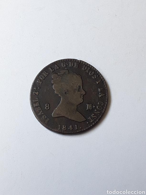 ISABEL II. 8 MARAVEDIS. SEGOVIA. 1841 (Numismática - España Modernas y Contemporáneas - De Isabel II (1.834) a Alfonso XIII (1.931))