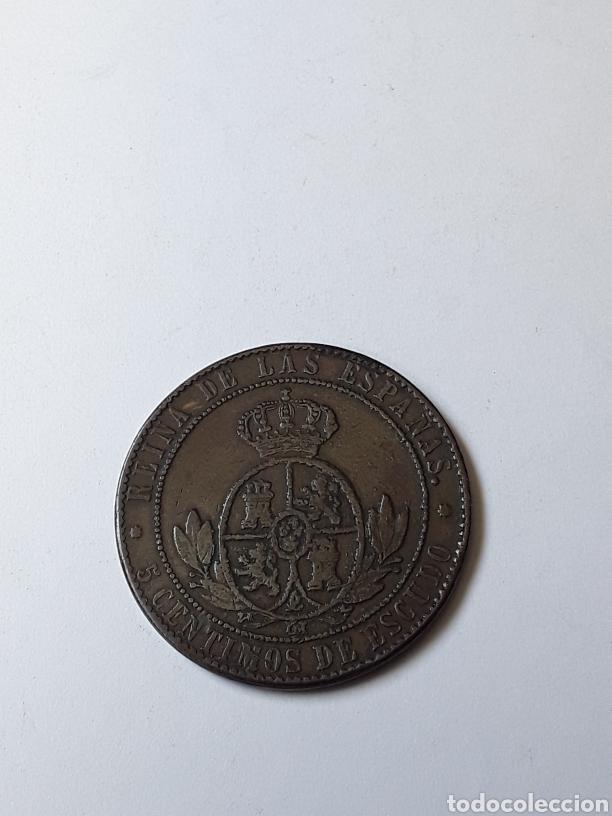 Monedas de España: ISABEL II. 5 CENTIMOS DE ESCUDO.1868.BARCELONA - Foto 2 - 261101620