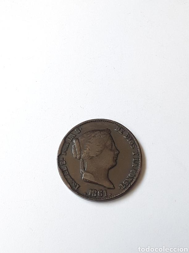 ISABEL II. 25 CENTIMOS DE REAL.1861.SEGOVIA (Numismática - España Modernas y Contemporáneas - De Isabel II (1.834) a Alfonso XIII (1.931))