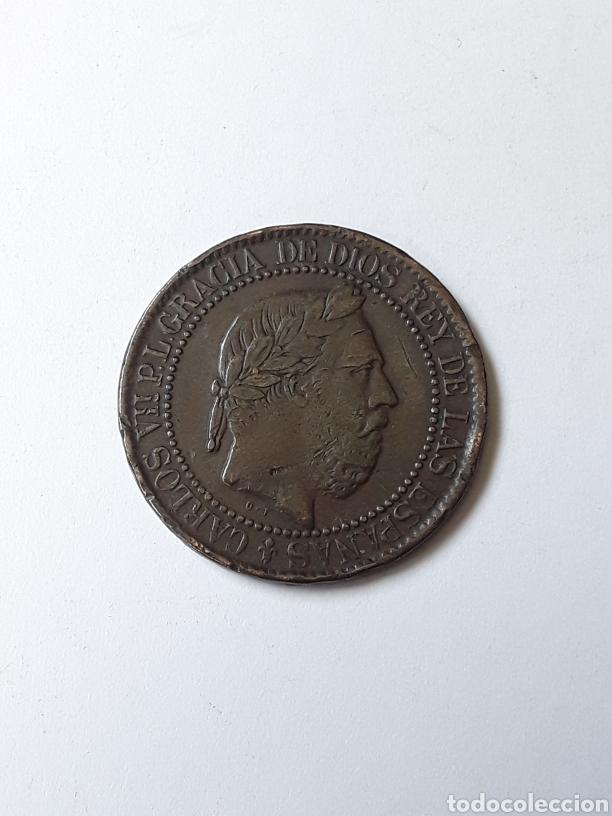 CARLOS VII. 10 CENTIMOS.1875. (Numismática - España Modernas y Contemporáneas - De Isabel II (1.834) a Alfonso XIII (1.931))