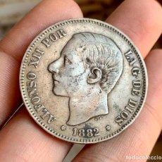 Monedas de España: ESPAÑA ALFONSO XII 5 PESETAS 1882 *X8-*82 . PLATA. Lote 261558530