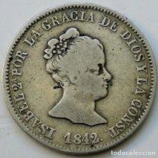 Monedas de España: 4 REALES - ISABEL II - 1842 C·C· - BARCELONA - PLATA - BUSTO PEQUEÑO - ESCASA. Lote 261558695