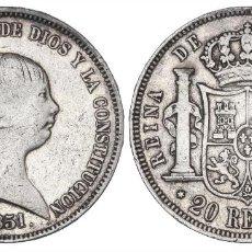 Monedas de España: 20 REALES ISABEL II 1851 MADRID. Lote 261559280