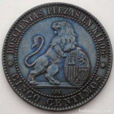 Monedas de España: 5 CÉNTIMOS - PRIMERA REPÚBLICA - 1870 OM - BARCELONA - EXCELENTE. Lote 261559875
