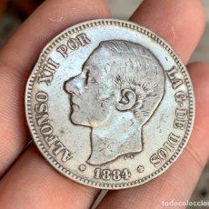 Monedas de España: ESPAÑA ALFONSO XII 5 PESETAS 1884 *18-*84 . PLATA. Lote 261559995