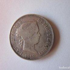 Monedas de España: UN ESCUDO DE ISABEL II. MADRID. 1868. 18-68. PLATA.. Lote 261602075