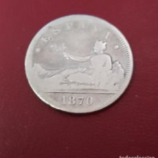 Monedas de España: MONEDA 2 PESETAS DE PLATA - 1870 GOBIERNO PROVISIONAL ESPAÑA. Lote 261833300