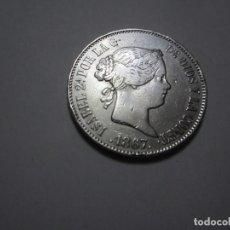Monedas de España: MONEDA DE 1 ESCUDO DE ISABEL II DE 1867 (ESCASA). Lote 261875825