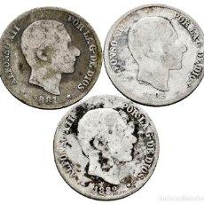 Monedas de España: LOTE 10 CENTAVOS MANILA. 1881, 1882, 1883. ESCASAS. PLATA.. Lote 261887160