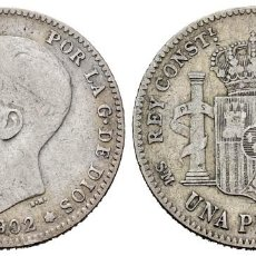 Monedas de España: 1 PESETA. 1902. SMV. MBC. Lote 261894200