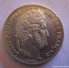 Monedas de España: LUIS FELIPE I REY DE FRANCIA . 5 FRANCOS DE PLATA MUY ANTIGUOS . AÑO DE 1840 . PIEZA DE CALIDAD. Lote 261910185