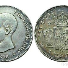 Monedas de España: 5 PESETAS 1888 *18*88, MPM. Lote 262121290