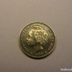 Monedas de España: MONEDA DE 1 PESETA DE PLATA, ALFONSO XIII, AÑO 1893. CON UNA BONITA PATINA.. Lote 262199855