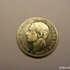 Monedas de España: MONEDA DE 2 PESETA DE PLATA, ALFONSO XII, AÑO 1882. CON UNA BONITA PATINA.. Lote 262201750