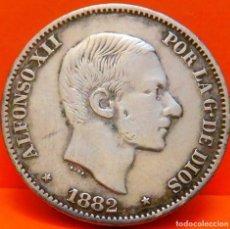 Monedas de España: ESPAÑA, 50 CENT DE PESO, 1882. ALFONSO XII. ISLAS FILIPINAS. PLATA. (1063). Lote 262222285