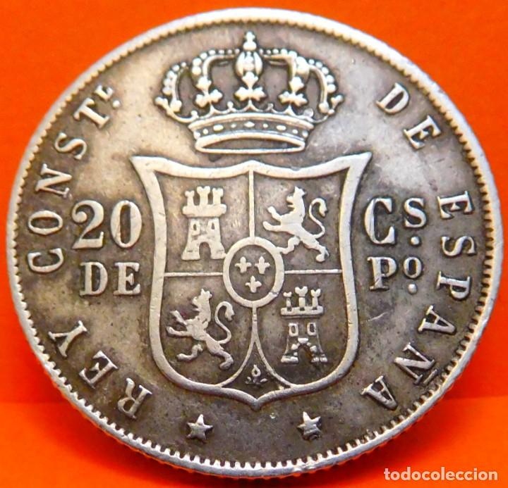 Monedas de España: ESPAÑA, 20 CENT DE PESO, 1885. ALFONSO XII. ISLAS FILIPINAS. PLATA. (1073) - Foto 2 - 262328440