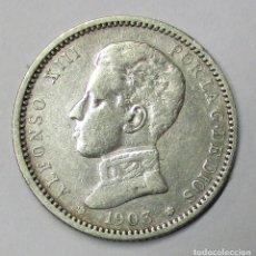 Monedas de España: ALFONSO XIII, 1 PESETA DE PLATA 1903 * 19 - 03. CECA DE MADRID-S.M.V. LOTE 3809. Lote 262422815
