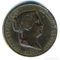 Monedas de España: XS- ISABEL II 25 CÉNTIMOS DE REAL / UN CUARTILLO 1856 BARATA. Lote 262651295