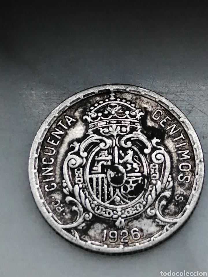 Monedas de España: 50centimos Alfonso 13 1926 - Foto 2 - 263123350