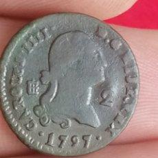 Monedas de España: CARLOS IV IIII 2 MARAVEDIS 1797 SEGOVIA. Lote 263188365