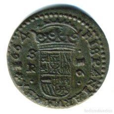Monedas de España: XS- FELIPE IV 1664 16 MARAVEDÍS SEVILLA XS# M-616. Lote 263204495