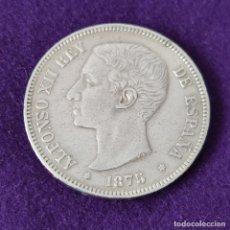 Monedas de España: MONEDA DE 5 PESETAS PLATA DE ALFONSO XII. AÑO 1875. * 18-75. DEM. ORIGINAL. PLATA 900.. Lote 263302720