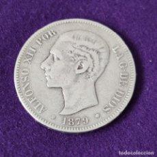 Monete da Spagna: MONEDA DE 5 PESETAS PLATA DE ALFONSO XII. AÑO 1879. * 8- . EMM. ORIGINAL. PLATA 900.. Lote 263350275