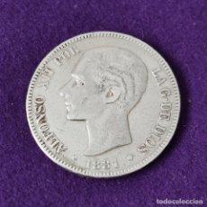 Monedas de España: MONEDA DE 5 PESETAS PLATA DE ALFONSO XII. AÑO 1881. MSM. ORIGINAL. PLATA 900.. Lote 263360690