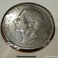 Monedas de España: 5 PESETAS DE PLATA ESPAÑA ALFONSO XII AÑO 1882. Lote 263555330