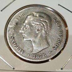 Monedas de España: 5 PESETAS DE PLATA ESPAÑA ALFONSO XII AÑO 1878. Lote 263556355