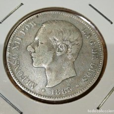 Monedas de España: 5 PESETAS DE PLATA ESPAÑA ALFONSO XII AÑO 1883. Lote 263556610