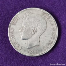 Monete da Spagna: MONEDA DE 5 PESETAS PLATA DE ALFONSO XIII. AÑO 1898. *18-98. SGV. ORIGINAL. PLATA 900.. Lote 263557820