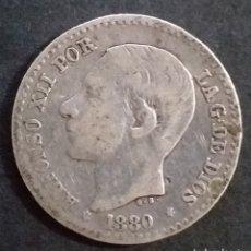 Monedas de España: MONEDA DE PLATA 50 CENTIMOS ESPAÑA AÑO 1880. Lote 264716009
