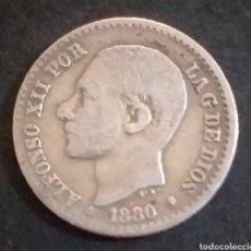 Monedas de España: MONEDA DE PLATA 50 CENTIMOS ESPAÑA AÑO 1880. Lote 264716819