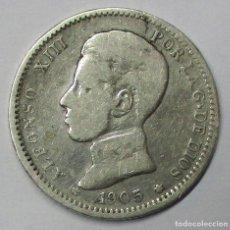Monedas de España: ALFONSO XIII, 1905. 1 PESETA DE PLATA 1905. CECA DE MADRID-S.M.V. LOTE 3822. Lote 265112204