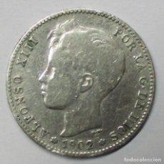 Monedas de España: ALFONSO XIII, 1 PESETA DE PLATA 1902. CECA DE MADRID-S.M.V. LOTE 3823. Lote 265115684