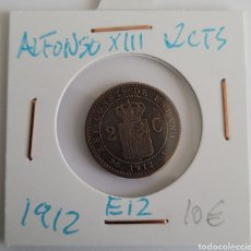 Monedas de España: MONEDA DE ESPAÑA 2 CÉNTIMOS ALFONSO XIII 1912 ESTRELLA 12. Lote 265136944