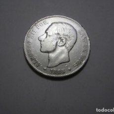 Monedas de España: MONEDA DE 5 PESETAS DE ALFONSO XII, DE 1885*18-. Lote 265355639