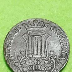 Monedas de España: ANTIGUA MONEDA DE 6 CUAR DE ISABEL II DE 1837. DE COBRE. BARCELONA PRINCIP DE CATALUÑA. Lote 265370514