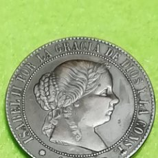 Monedas de España: ISABEL II. ANTIGUA MONEDA DE 5 CÉNTIMOS DE ESCUDO DE COBRE. MUY BIEN CONSERVADA.. Lote 265374664