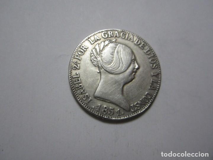 MONEDA DE 10 REALES DE ISABEL II DE 1851 DE MADRID, REPRODUCCIÓN MUY BONITA (Numismática - España Modernas y Contemporáneas - De Isabel II (1.834) a Alfonso XIII (1.931))