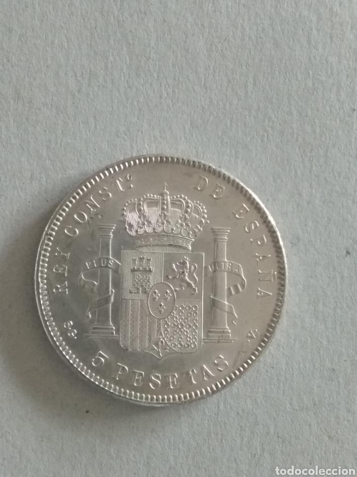 Monedas de España: Moneda Alfonso XIII 5 pesetas 1899 - Foto 2 - 265504074