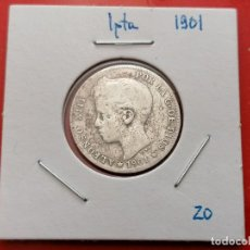 Monedas de España: MONEDA 1 PESETA, 1901 ,PLATA 835, 5 GR,. Lote 265562694