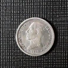 Monedas de España: ALFONSO XIII 50 CÉNTIMOS PLATA 1910 *1-0 PCV. MBC. Lote 267081989
